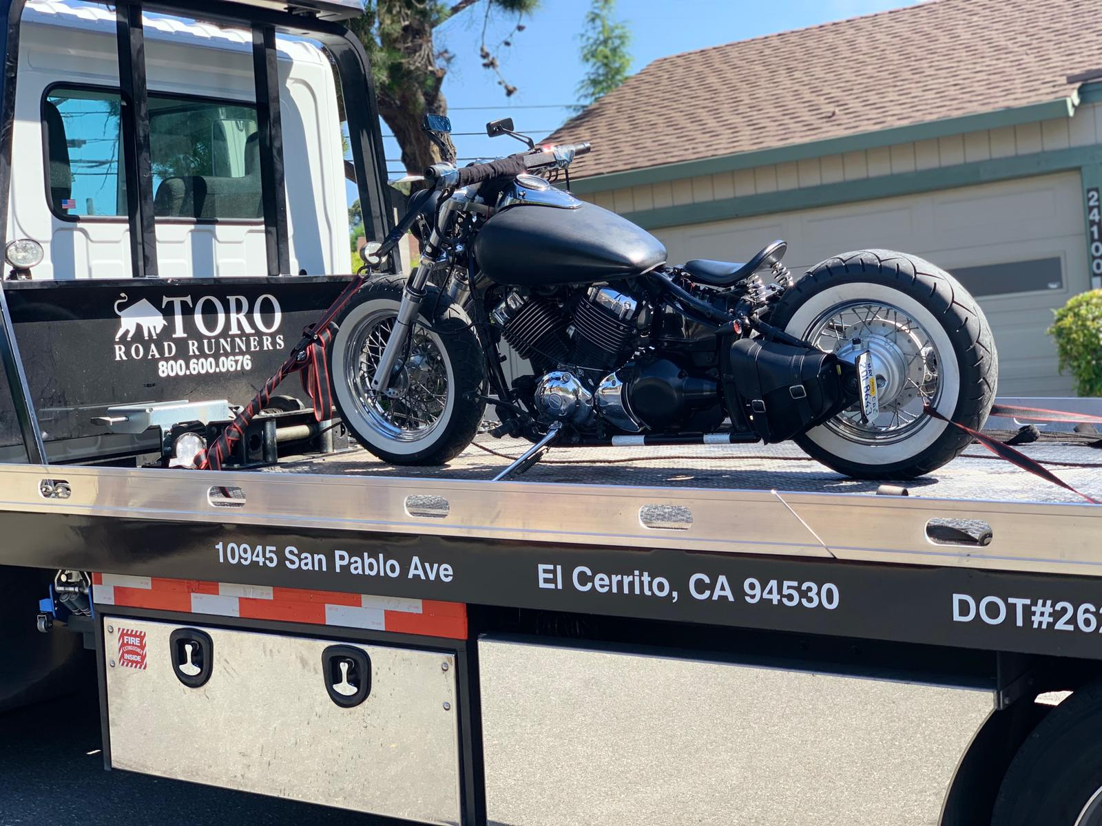 Motorcycle Towing in The Bay Area